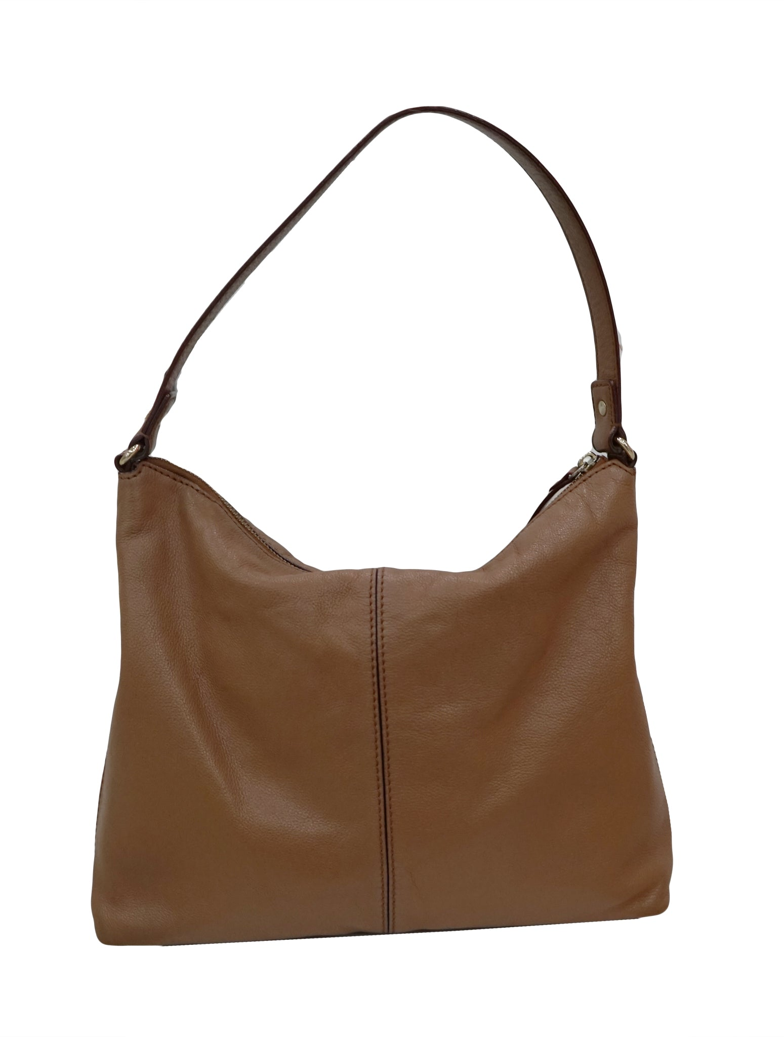 BROWN LEATHER SATCHEL BAG - kidsstyleforless