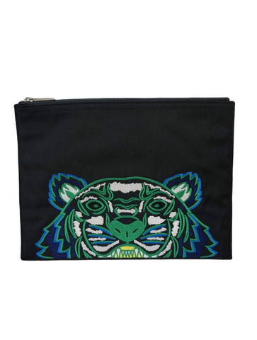TIGER EMBROIDERED POUCH