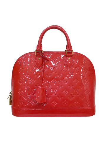 GRENADINE ALMA MONOGRAM VERNIS BAG