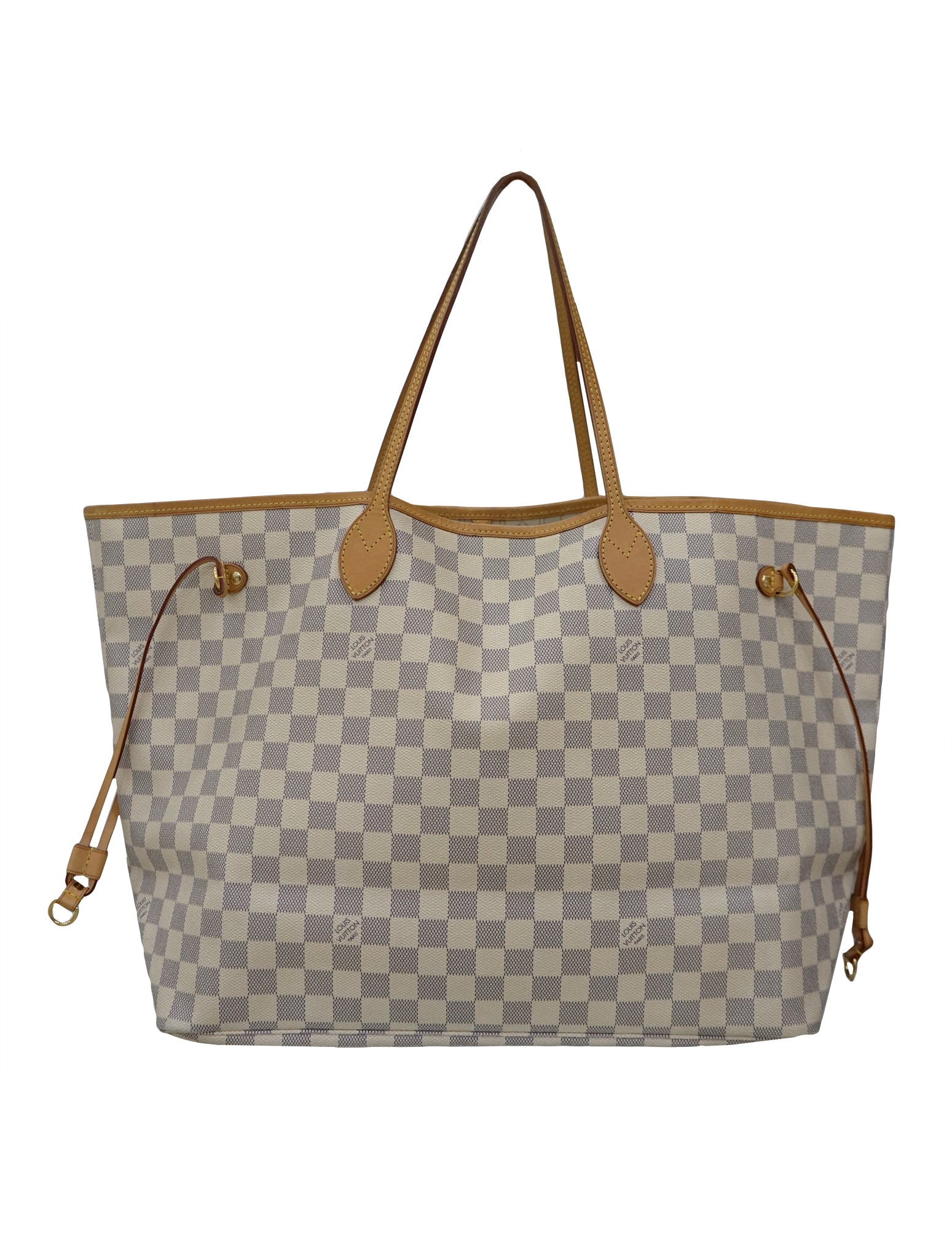 LOUIS VUITTON DAMIER AZUR CANVAS NEVERFULL GM BAG – Kidsstyleforless 0fe05ec997f5a