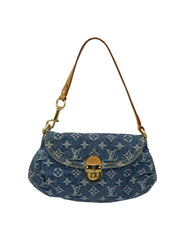 DENIM MINI PLEATY BLUE BAG