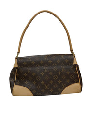MONOGRAM CANVAS & LEATHER BEVERLY BAG