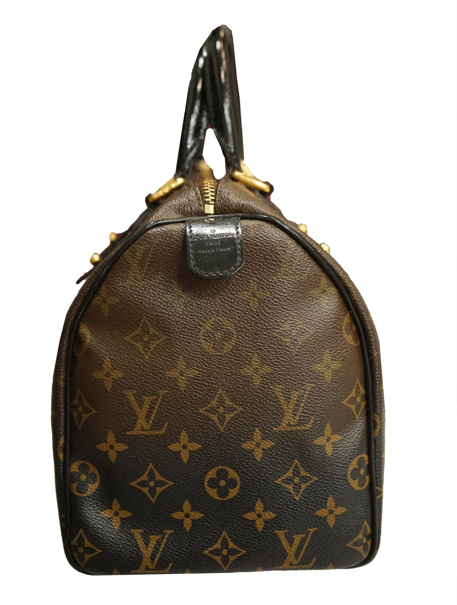 MONOGRAM LEATHER SPEEDY BAG