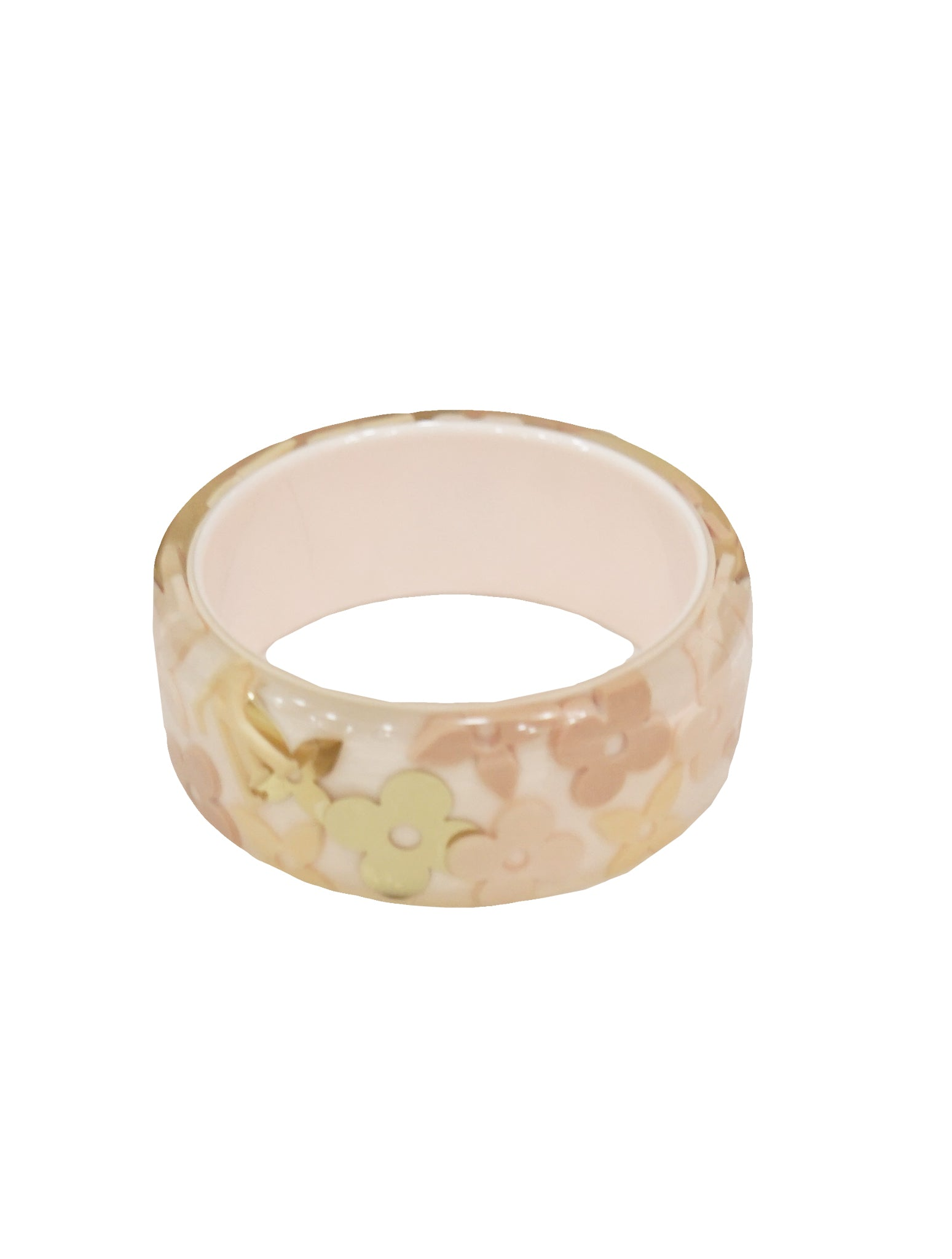 INCLUSION WHITE BANGLE BRACELET