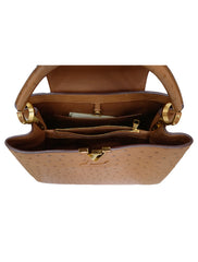 CAPUCINE OSTRICH LEATHER HANDBAG