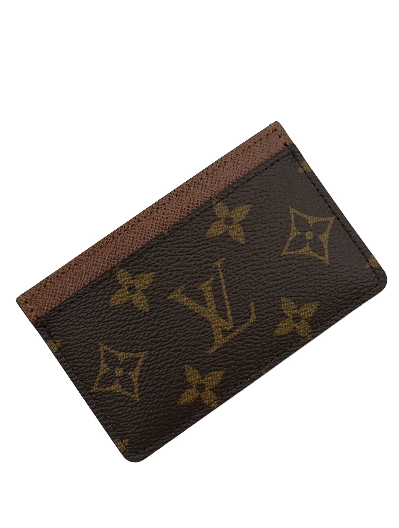 BROWN MONOGRAM CANVAS CARD HOLDER