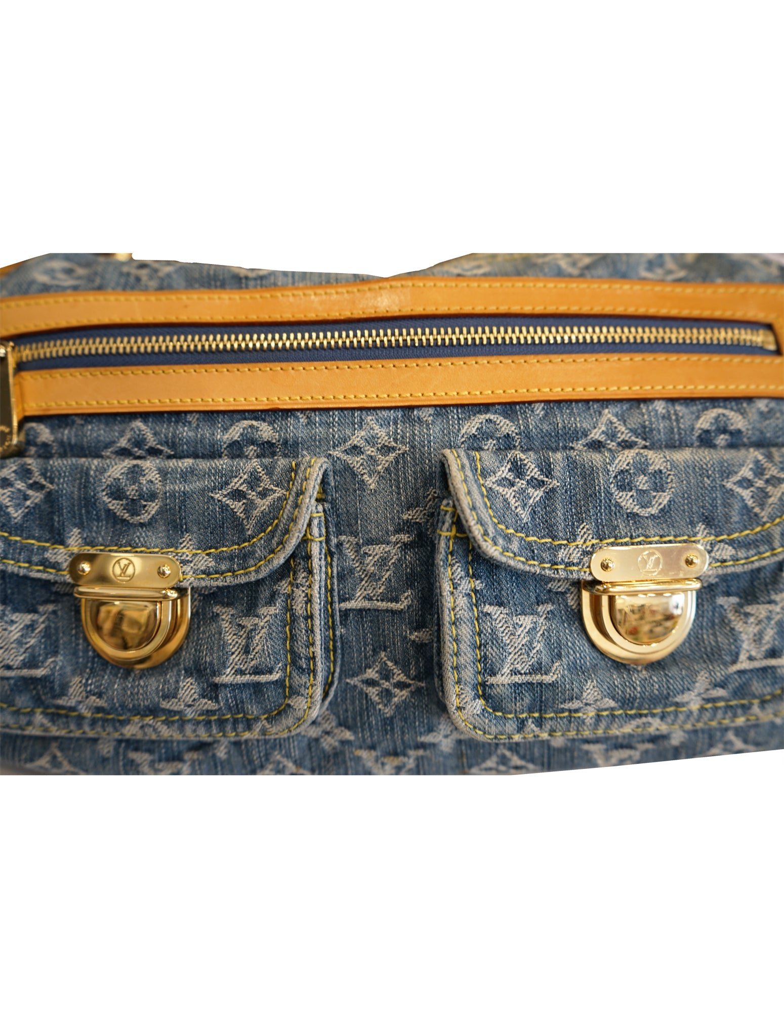 MONOGRAM DENIM BAGGY PM BAG