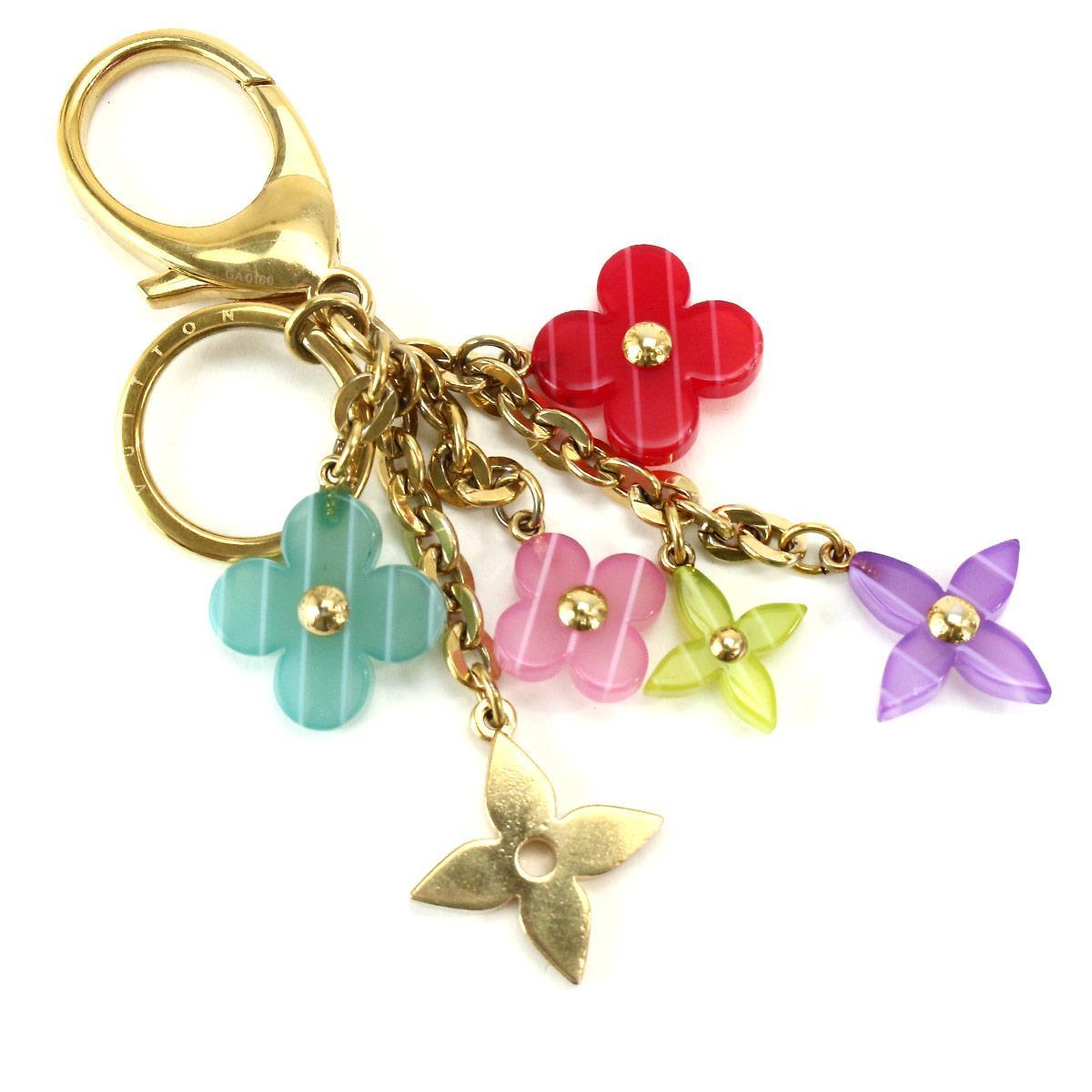 MULTICOLORED FLORAL KEY CHAIN