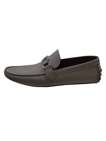 GRAY LEATHER HOCKENHEIM LOAFERS