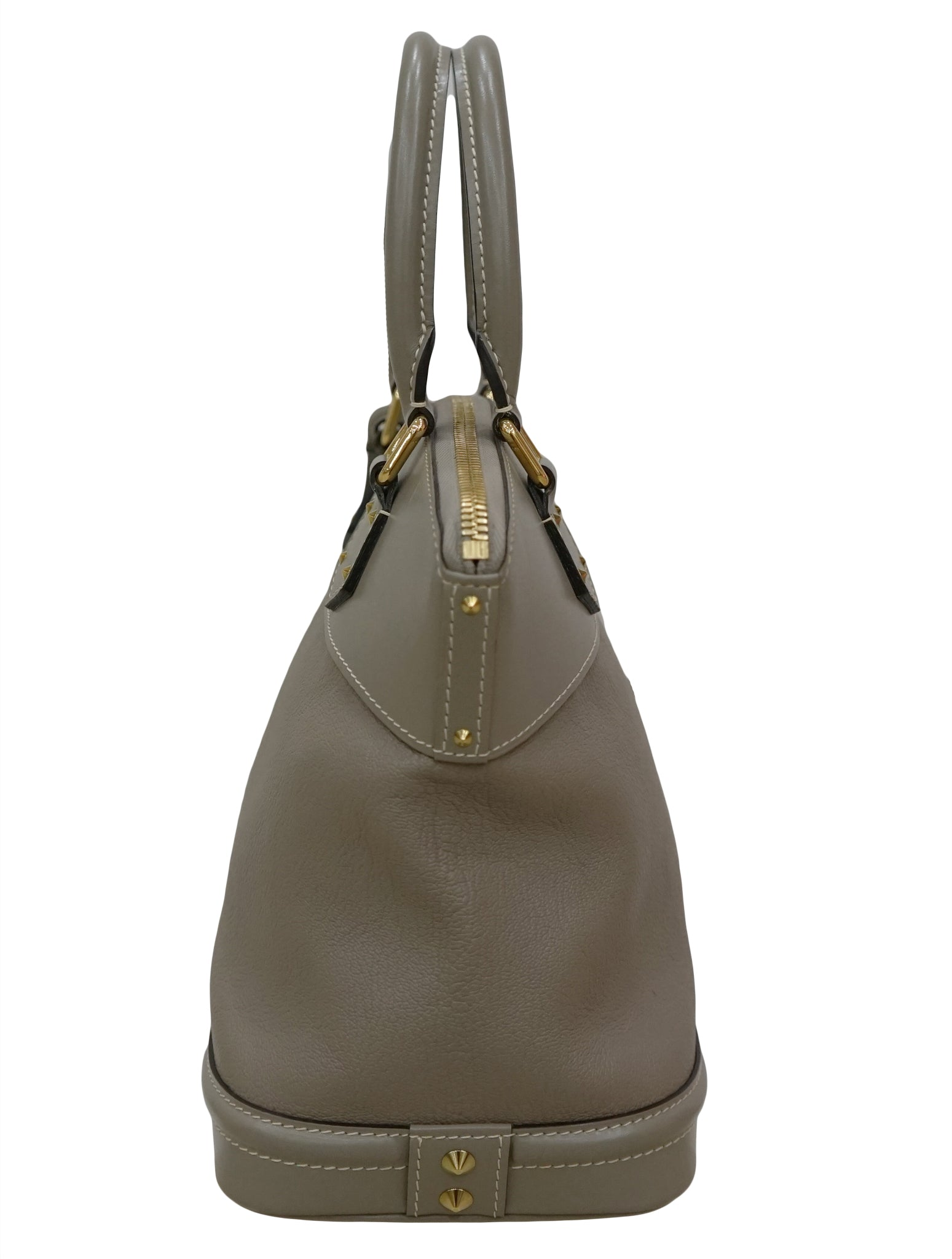 GRAY SUHALI LEATHER LOCKIT PM BAG