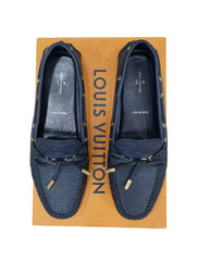 MONOGRAM  LEATHER FLAT LOAFERS