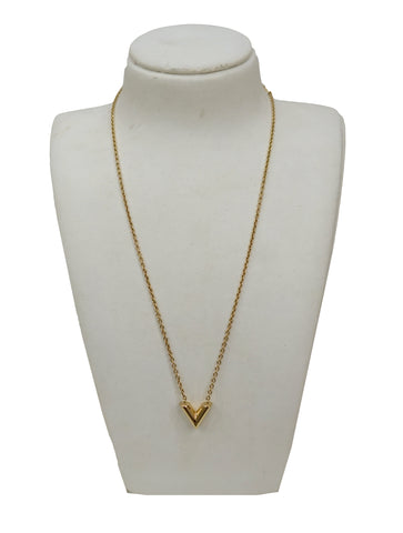 GOLD-TONE ESSENTIAL V NECKLACE
