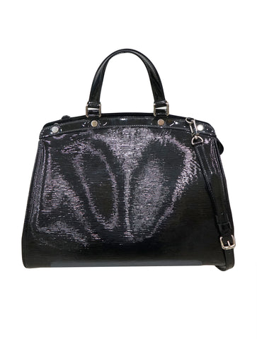BLACK ELECTRIC EPI LEATHER BREA BAG