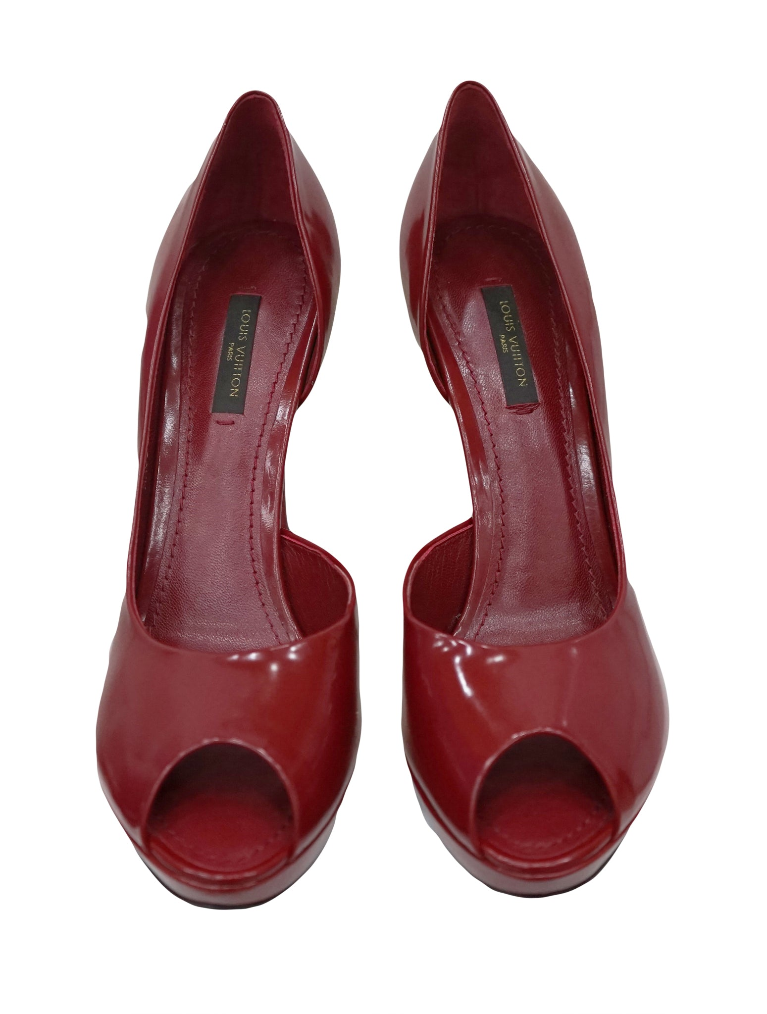 RED LEATHER SENSUAL D'ÓRSAY PUMPS