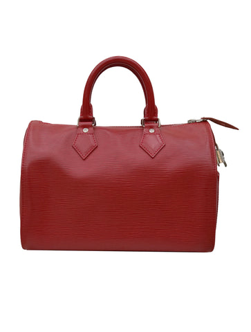RED EPI LEATHER SPEEDY 25 BAG SP1028
