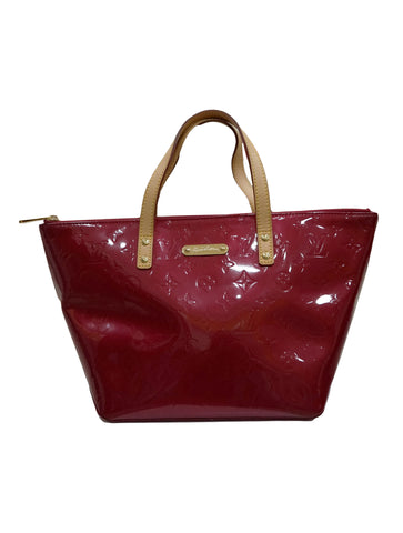 RED MONOGRAM VERNIS BELLEVUE PM BAG