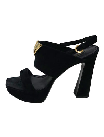 BLACK BAHIANA SUEDE SANDALS