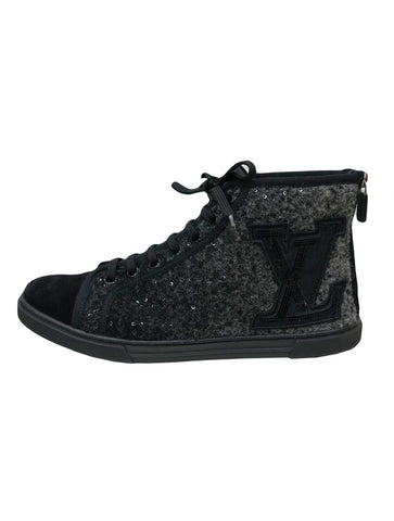 WOOL SEQUINS PUNCHY HIGH TOP SNEAKERS
