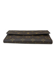 MONOGRAM CANVAS SARAH CONTINENTAL WALLET