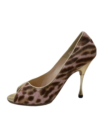 ANIMAL PRINT PONY HAIR ARSENIA HEELS