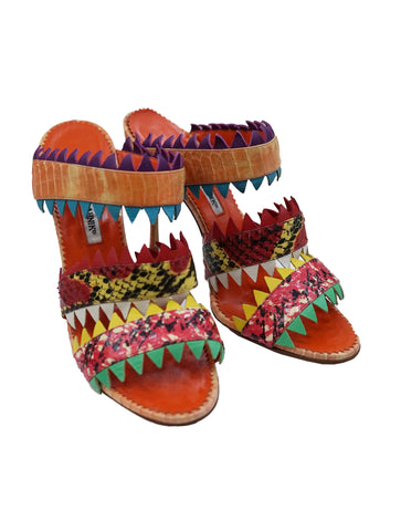 MULTICOLORED ANASTASIA SANDALS