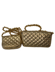 GOLD QUILTED BAG BELT