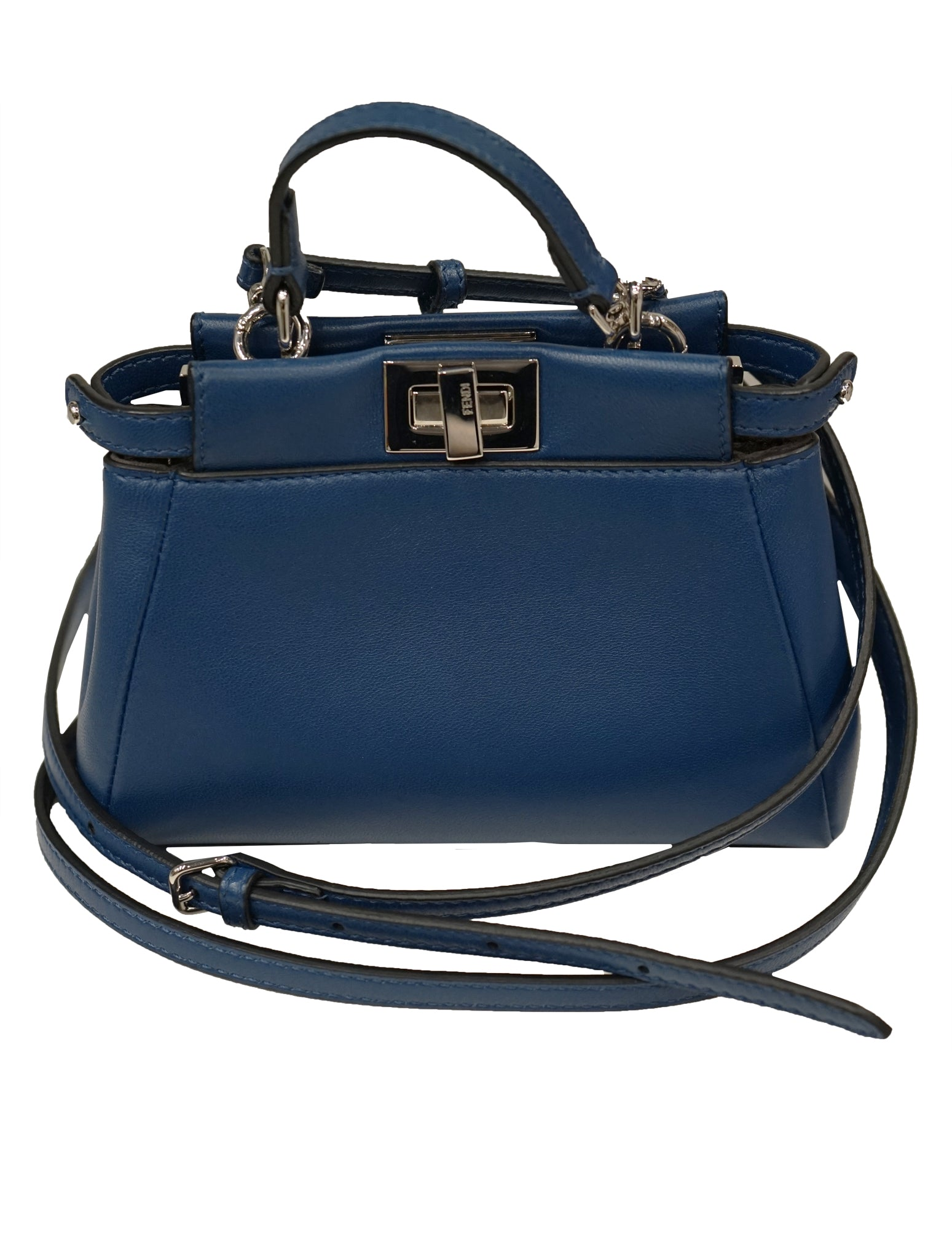 0ebe5aa9 BLUE LEATHER MICRO PEEKABOO BAG