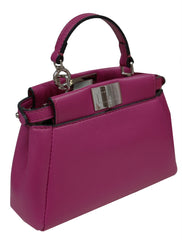 PINK LEATHER MICRO PEEKABOO BAG