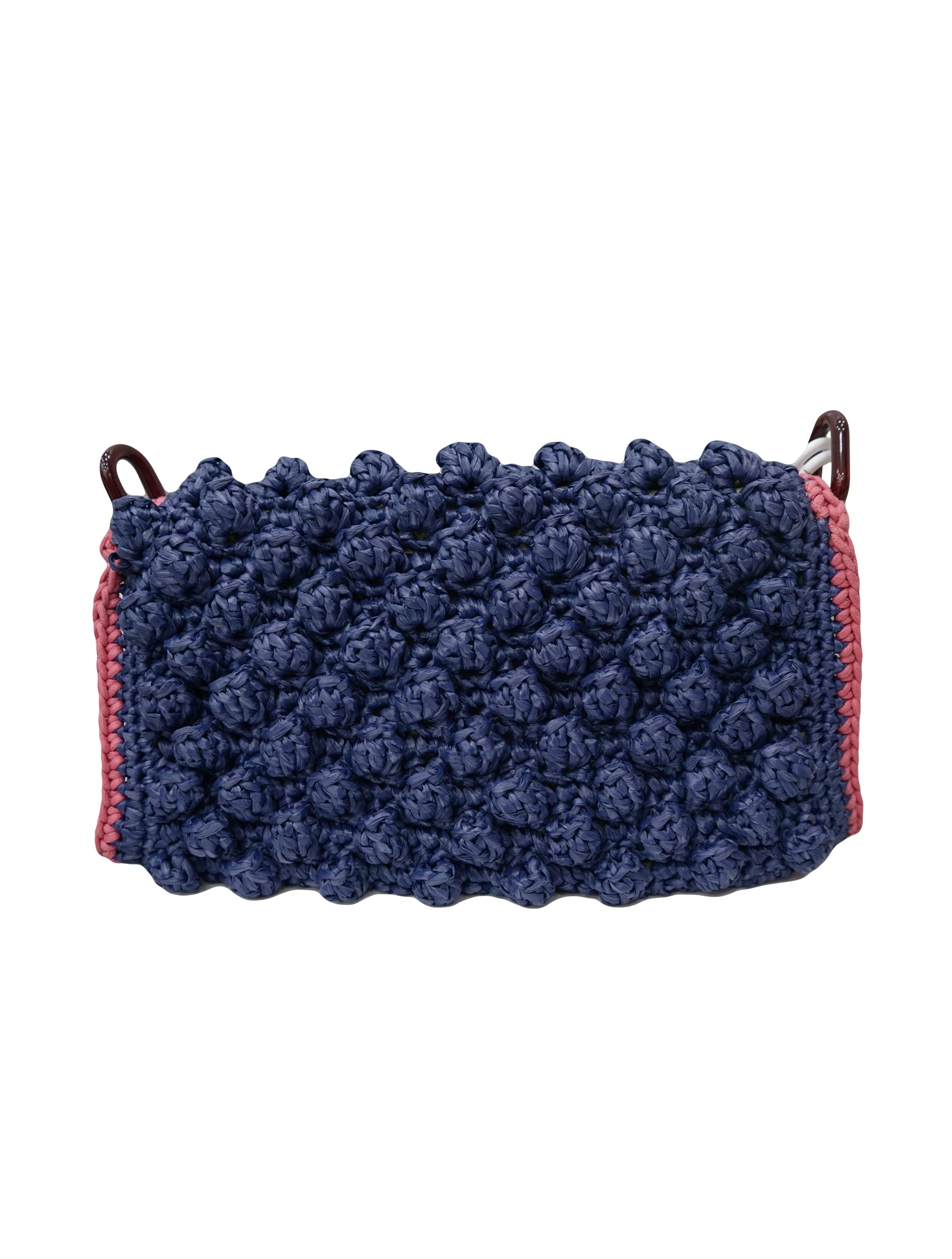 RAFFI AND BUBBLE STITCH SHOULDER BAG