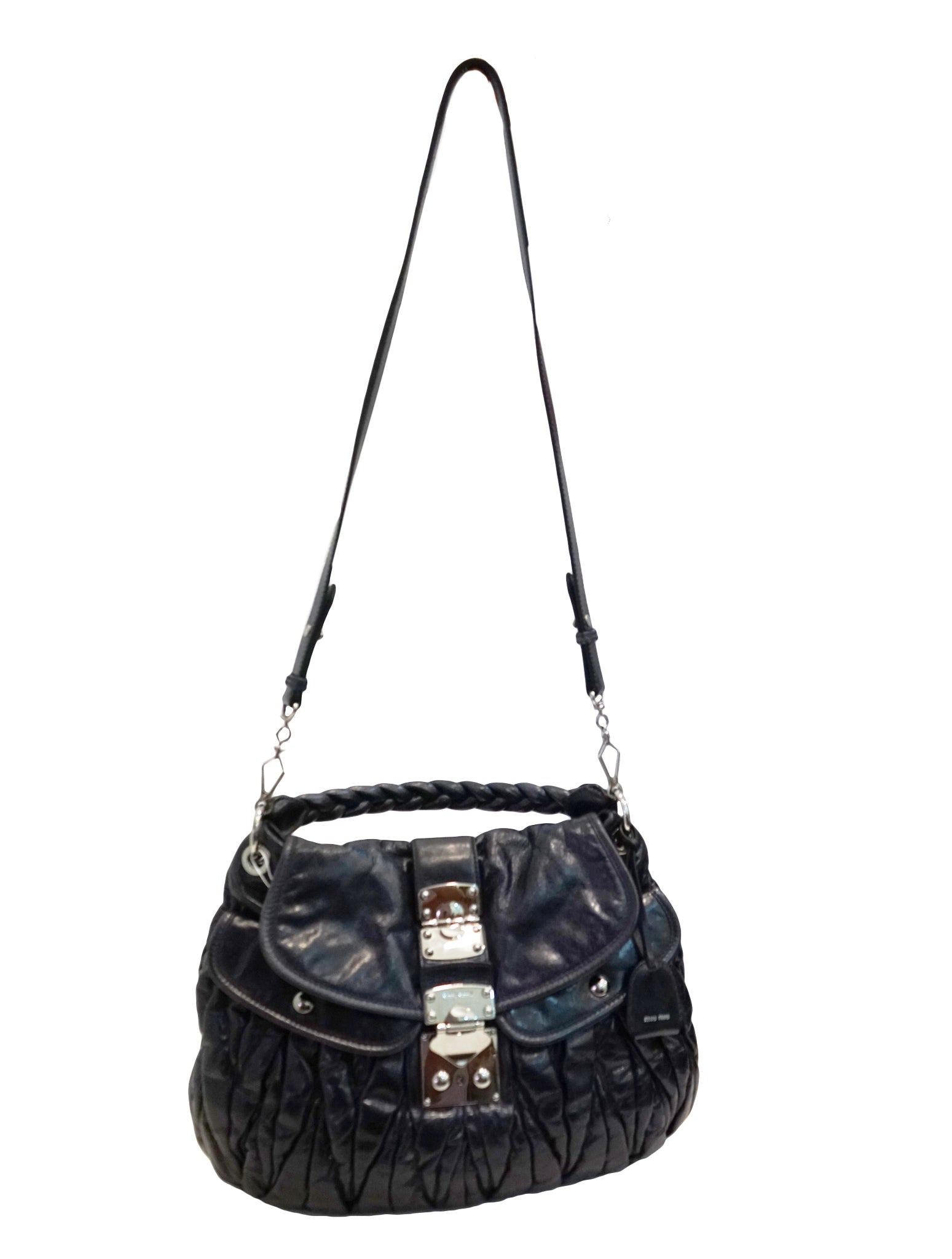 MATELASSE LUX LEATHER COFFER HOBO