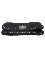 MATELASSÉ LEATHER CRYSTAL FLAP SHOULDER
