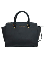 BLACK SAFFIANO LEATHER MEDIUM SELMA - kidsstyleforless