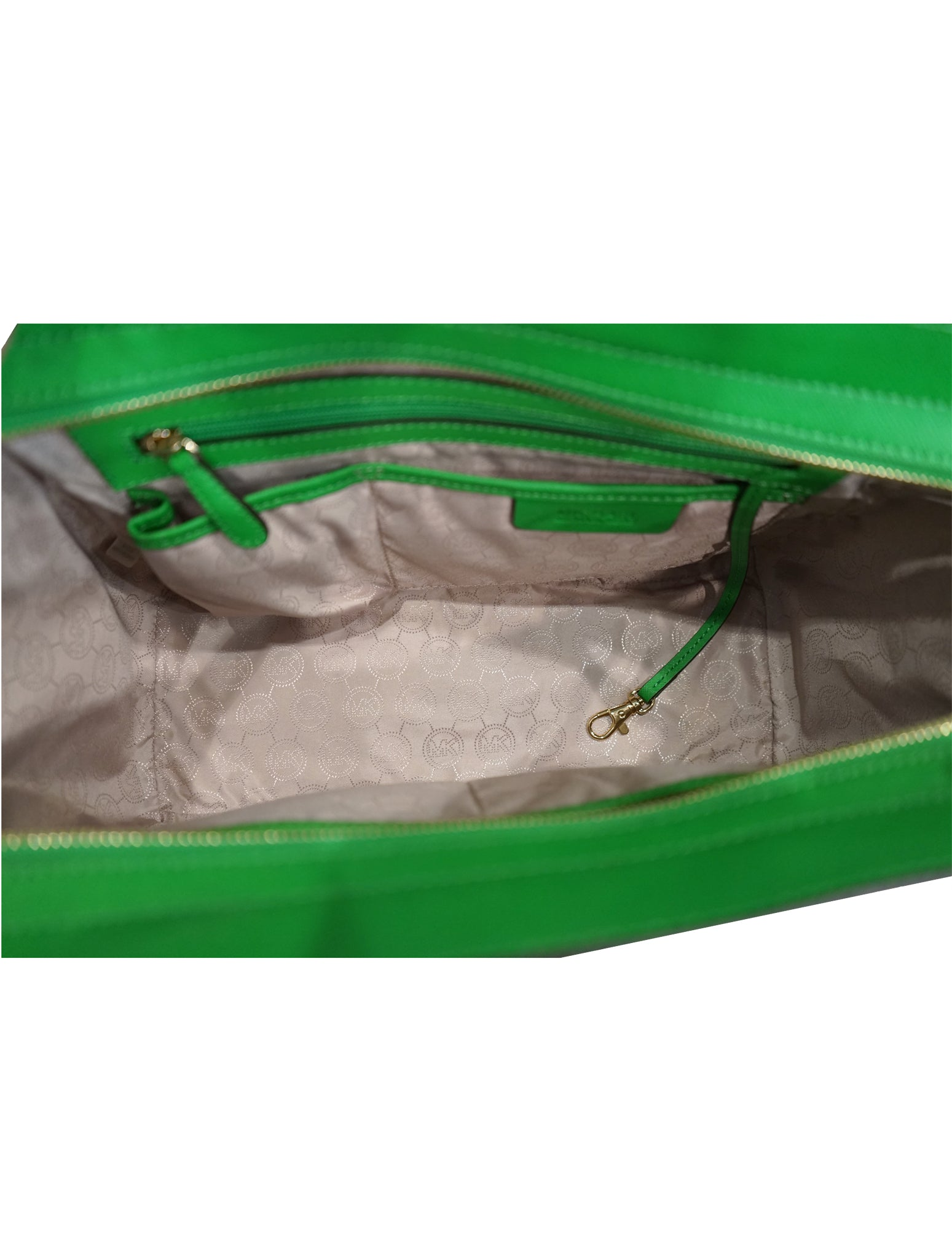 GREEN SAFFIANO LEATHER MEDIUM SELMA TOTE