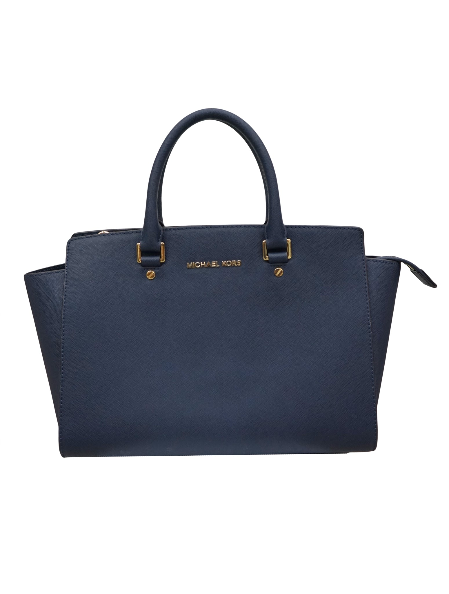 NAVY SAFFIANO LEATHER MEDIUM SELMA