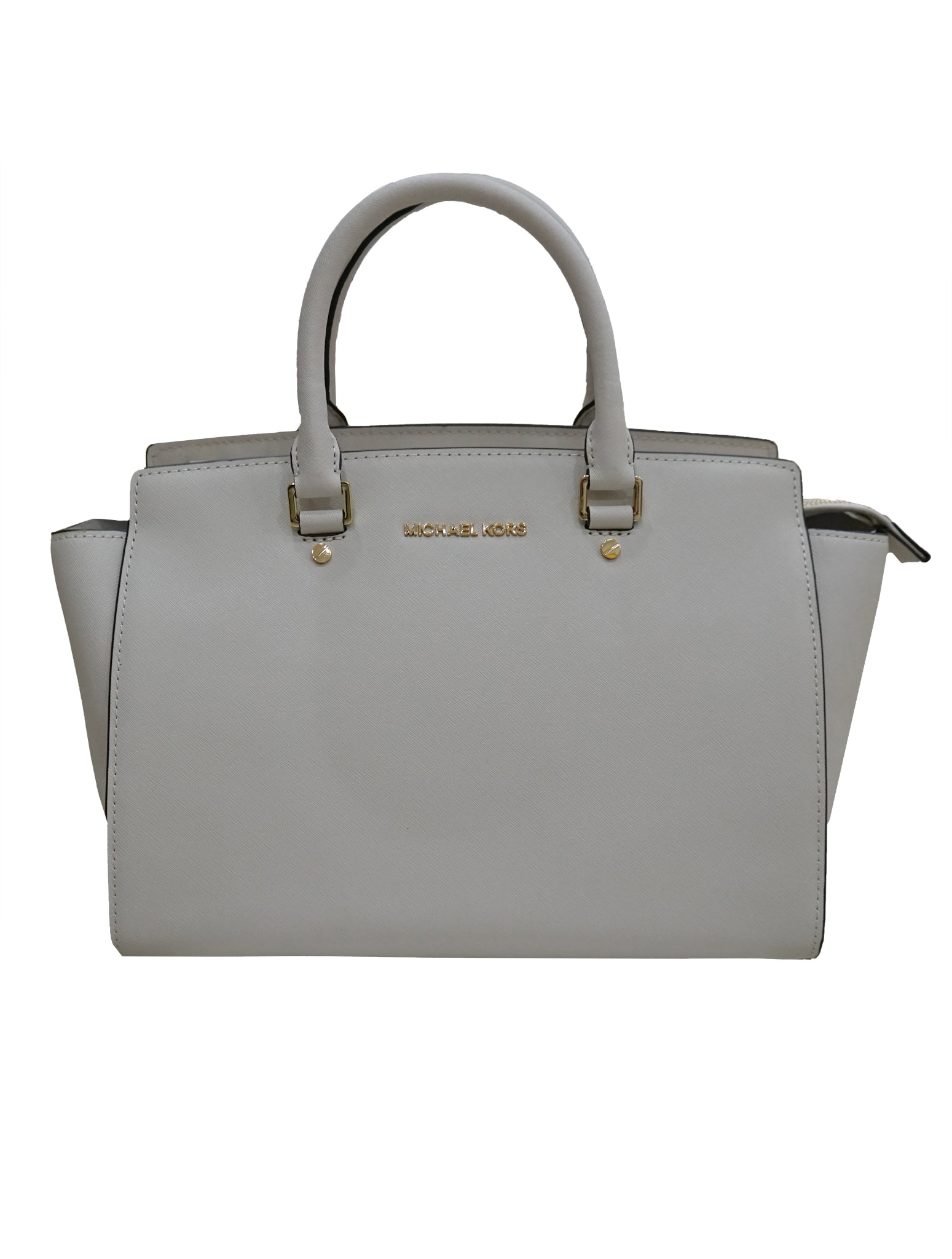 OFF WHITE SAFFIANO LEATHER MEDIUM SELMA