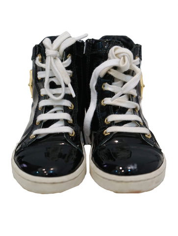 PATENT HIGH-TOP TRAINERS SHOES