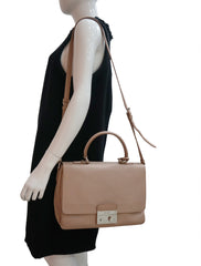 SAFFIANO LUX LEATHER FLAP BAG