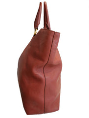 VITELLO DAINO LEATHER SHOPPER TOTE