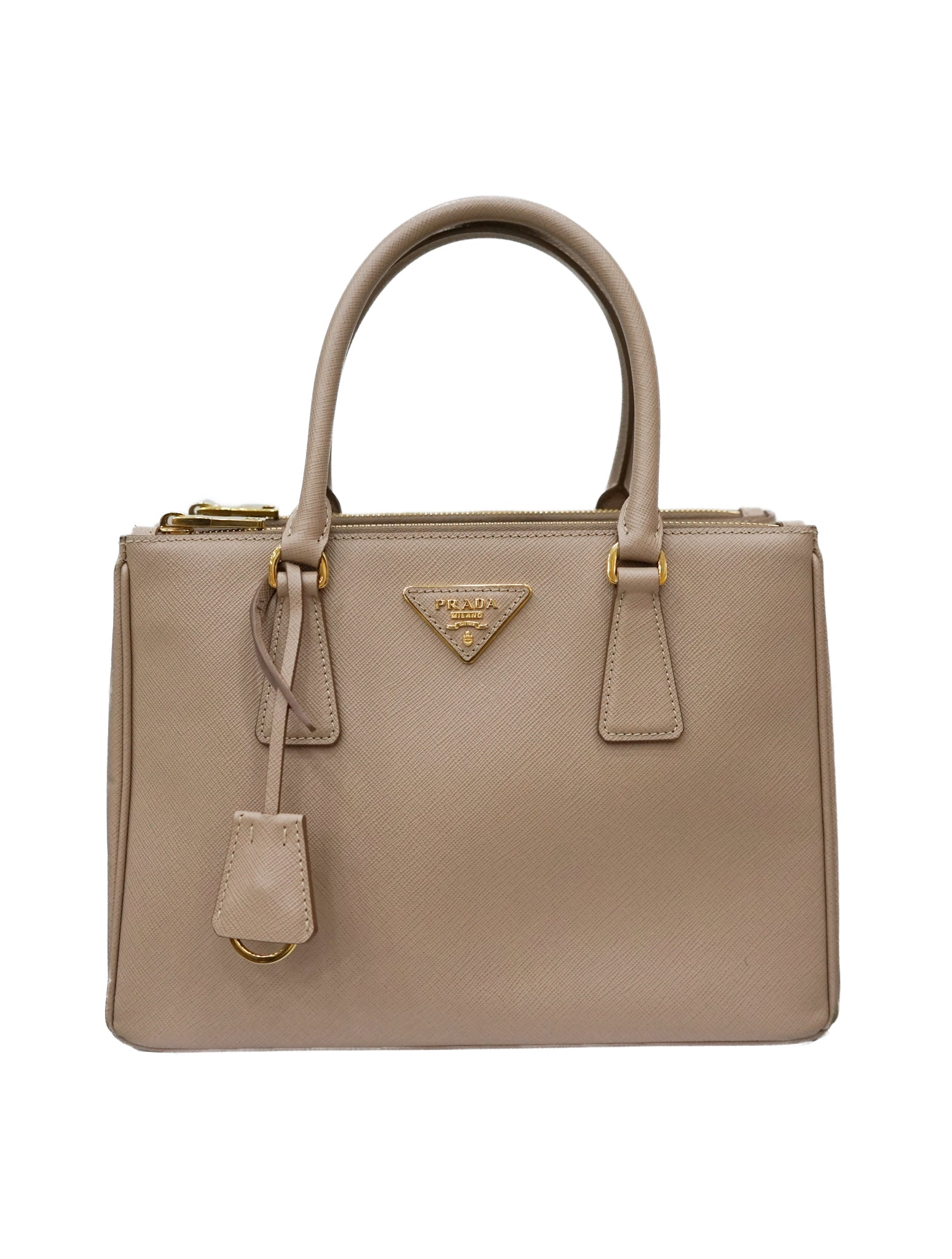 SAFFIANO LUX LEATHER DOUBLE ZIP TOTE BAG