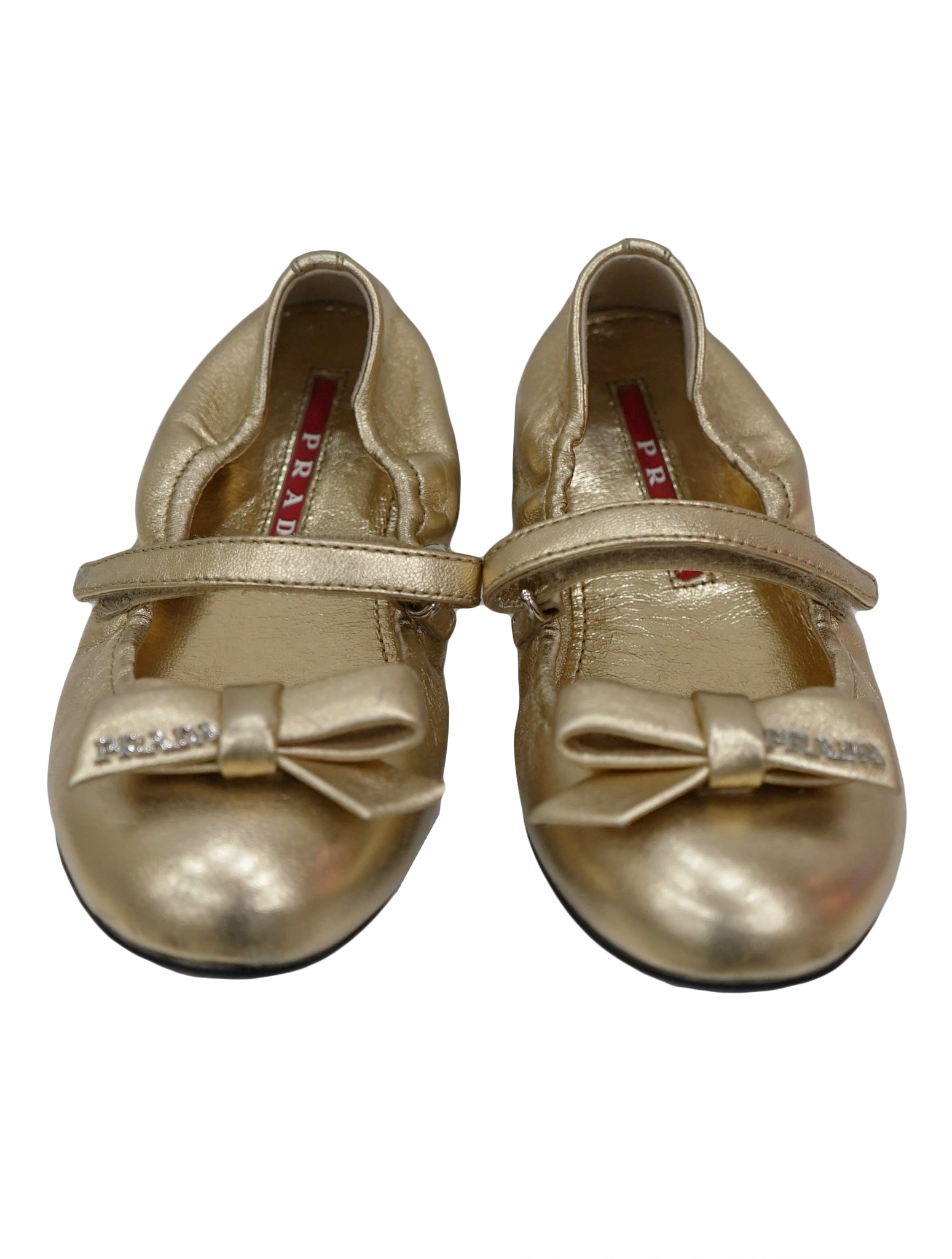 GIRL GOLD BOW FLATS