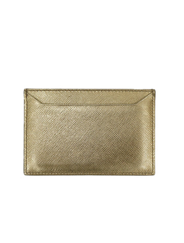 SAFFIANO METALLIC LEATHER CARD HOLDER