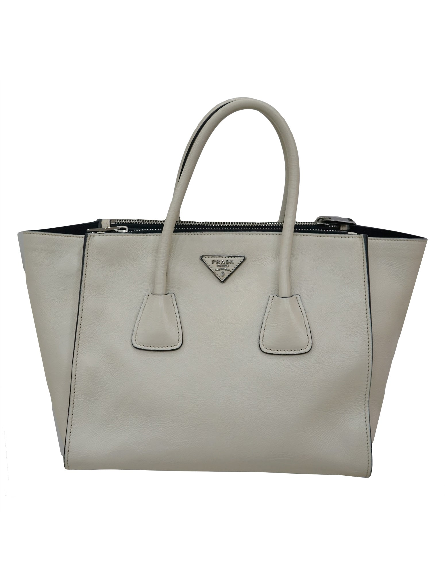 3202e02d98d1 PRADA OLIVIA'S GLACE CALF TWIN POCKET TOTE BAG – Kidsstyleforless