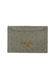 OSTRICH LEATHER CARD CASE