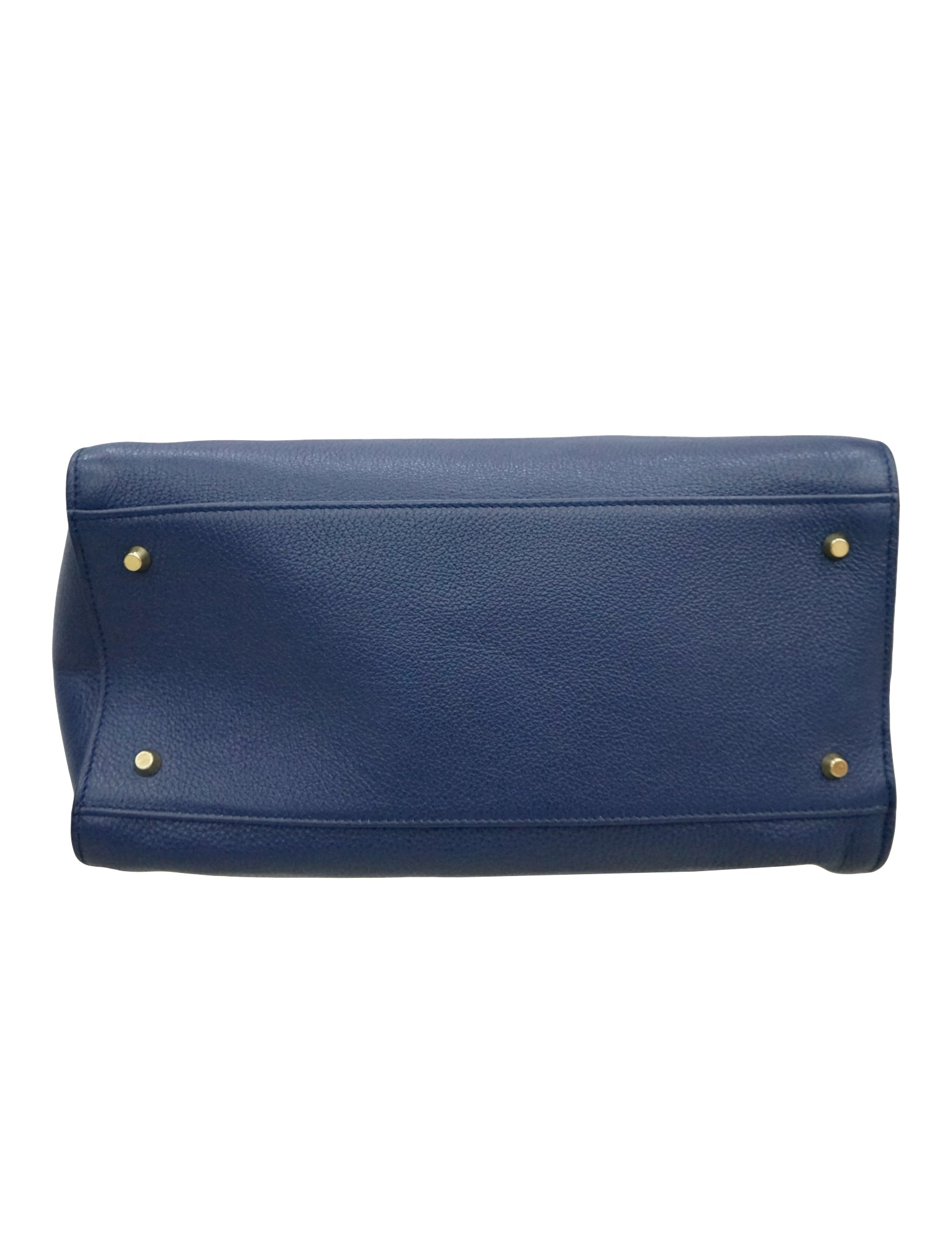 BLUE LEATHER SATCHEL BAG