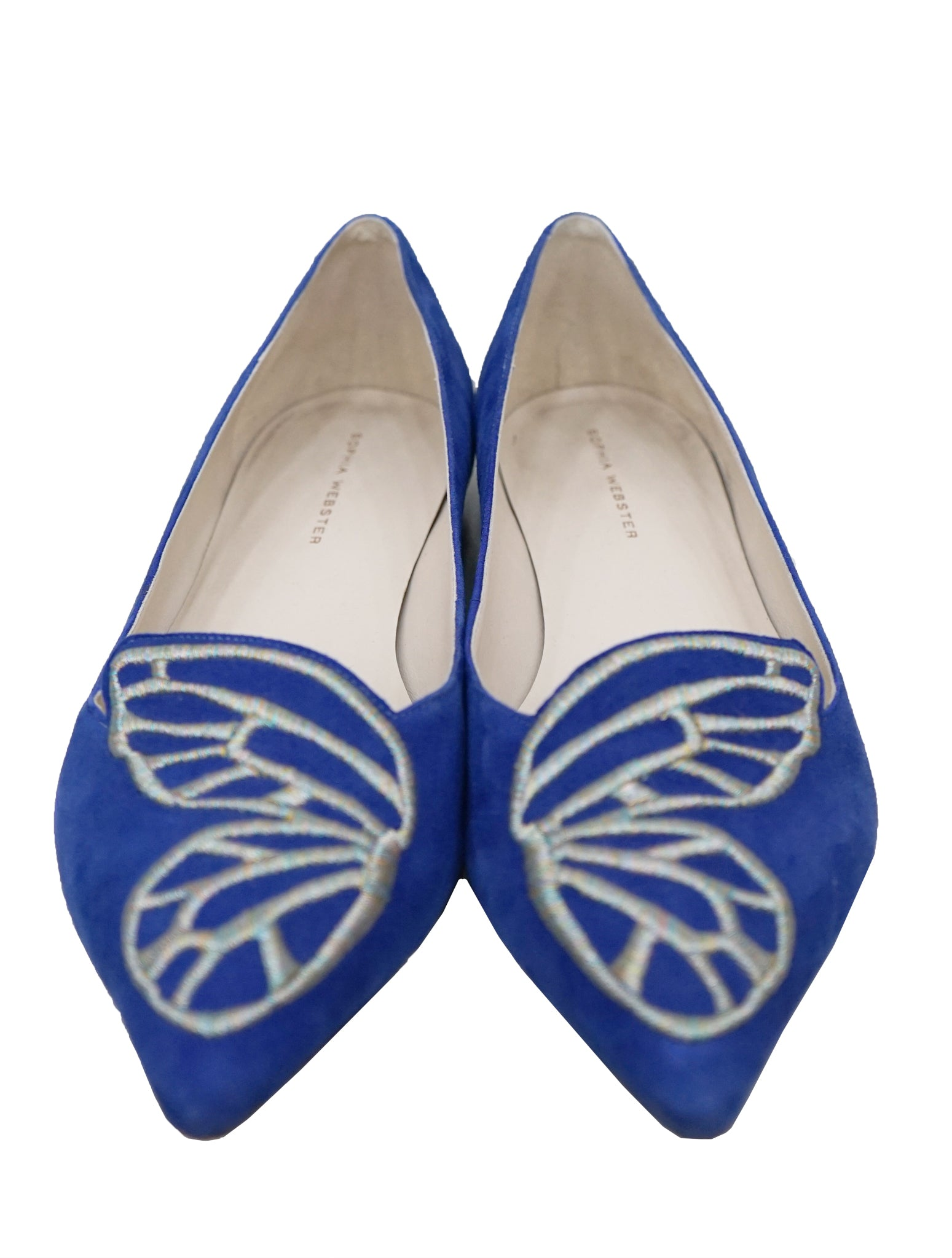 EMBROIDERED SUEDE BIBI BUTTERFLY FLATS
