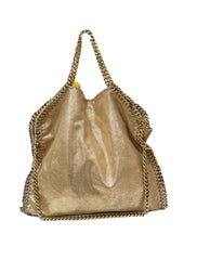GOLD FAUX LEATHER FALABELLA TOTE BAG