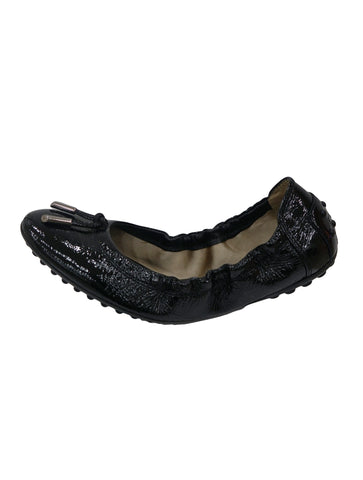 PATENT BOW BALLET FLATS