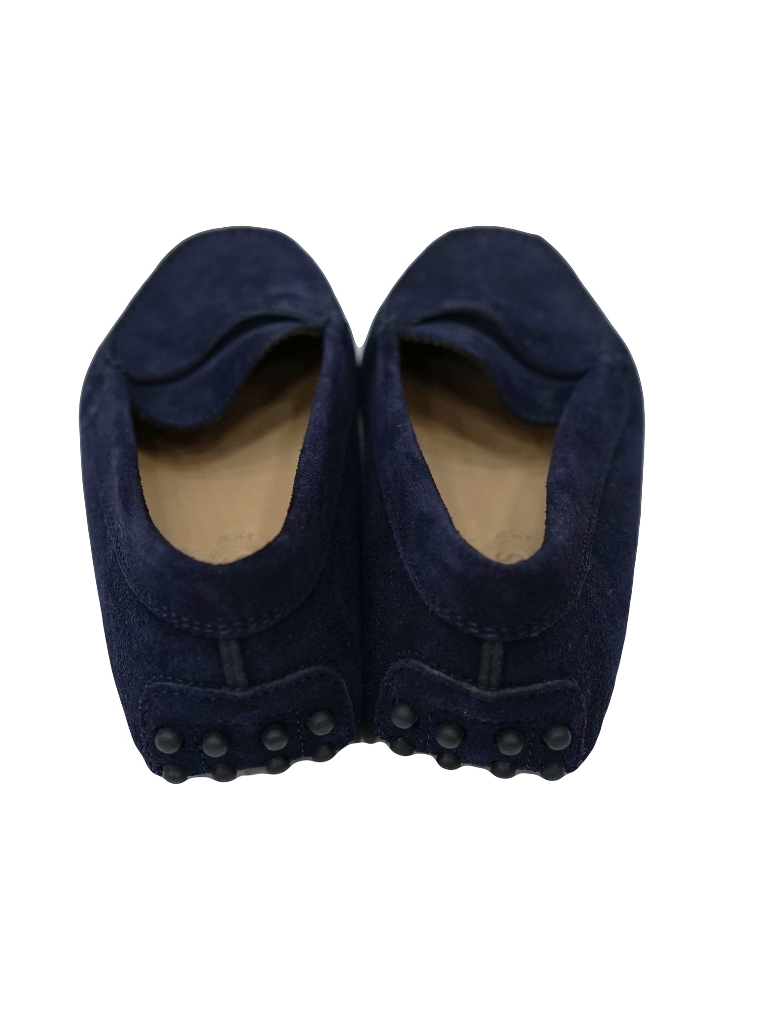 BOYS NAVY BLUE SUEDE LEATHER MOCCASIN