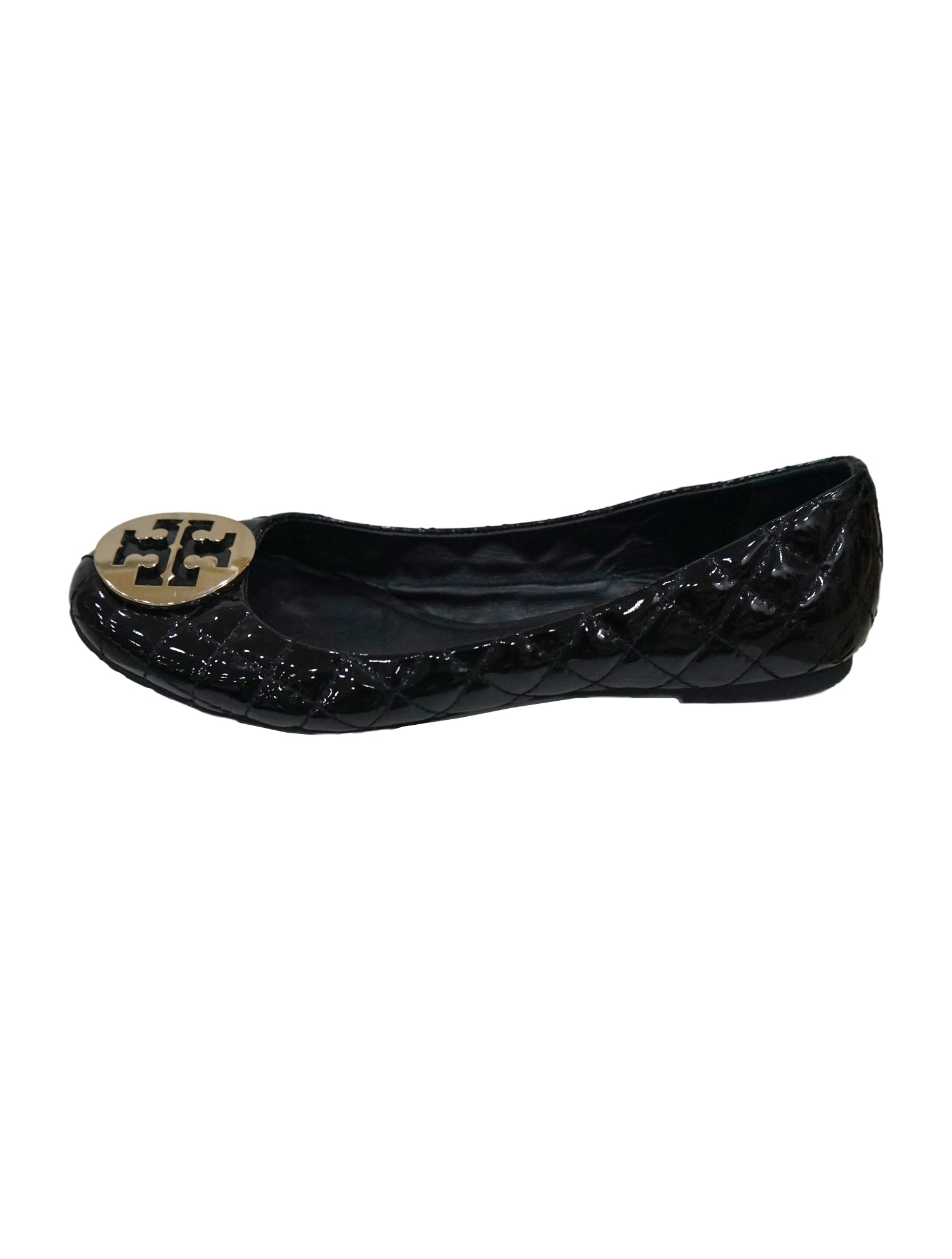 QUILTED LEATHER QUINN BALLET FLATS SIZE 40