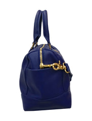 BLUE  LEATHER ROBINSON MIDDY SATCHEL